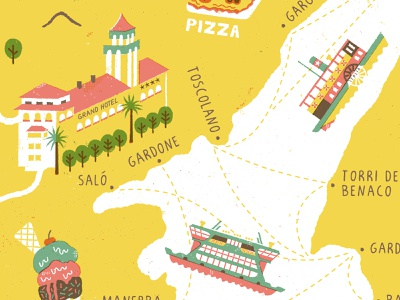 Lake Garda Map - Shot 1 italy typography cartography mapdesign maps illustration