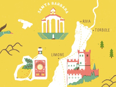 Lake Garda Map - Shot 2 italy mapdesign cartography maps typography illustration
