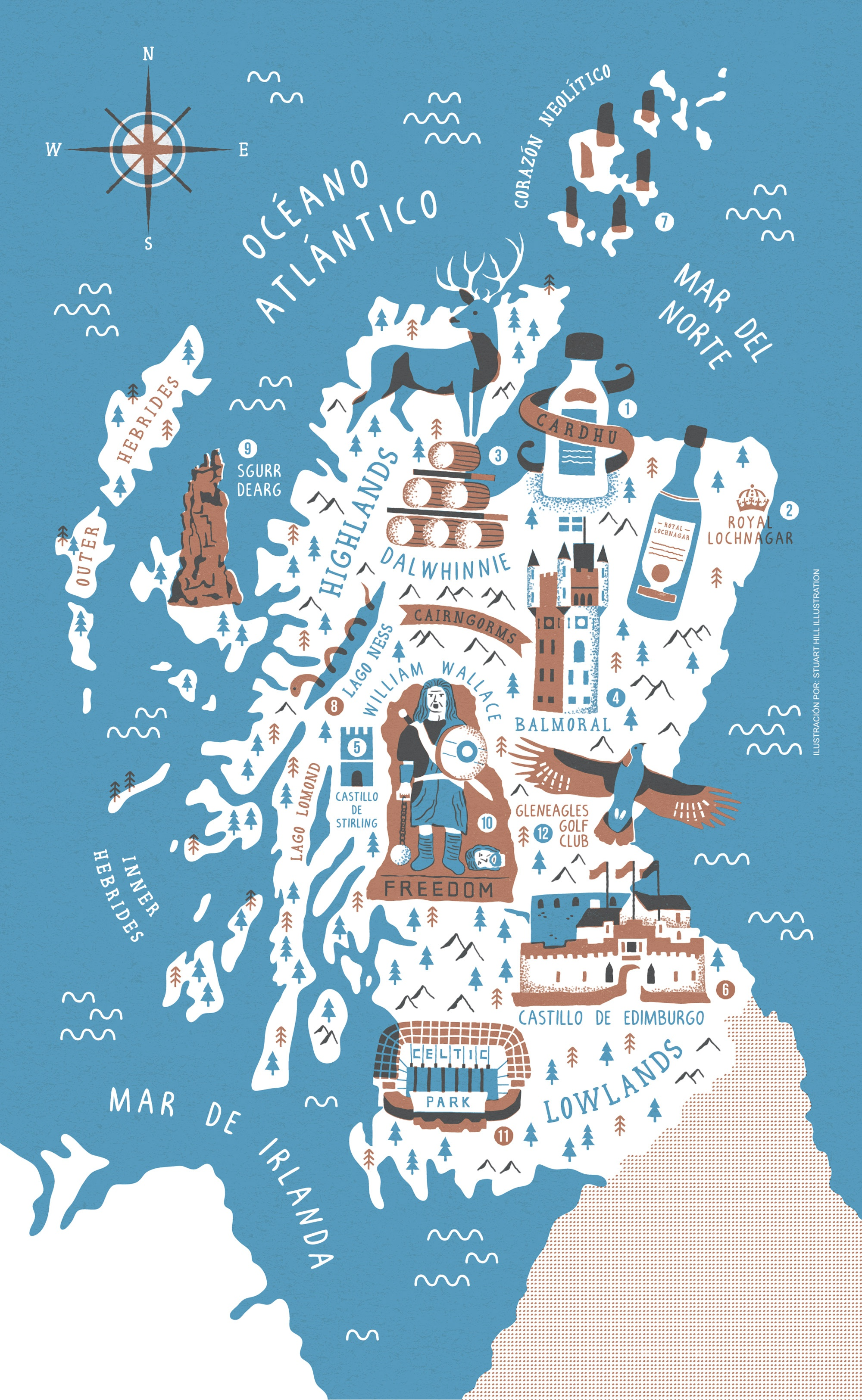 Scotland whiskey map 2000px