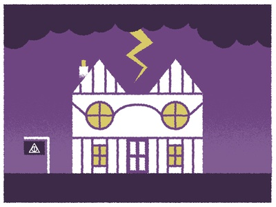 Harry Potters House harry potter house illustration news editorial