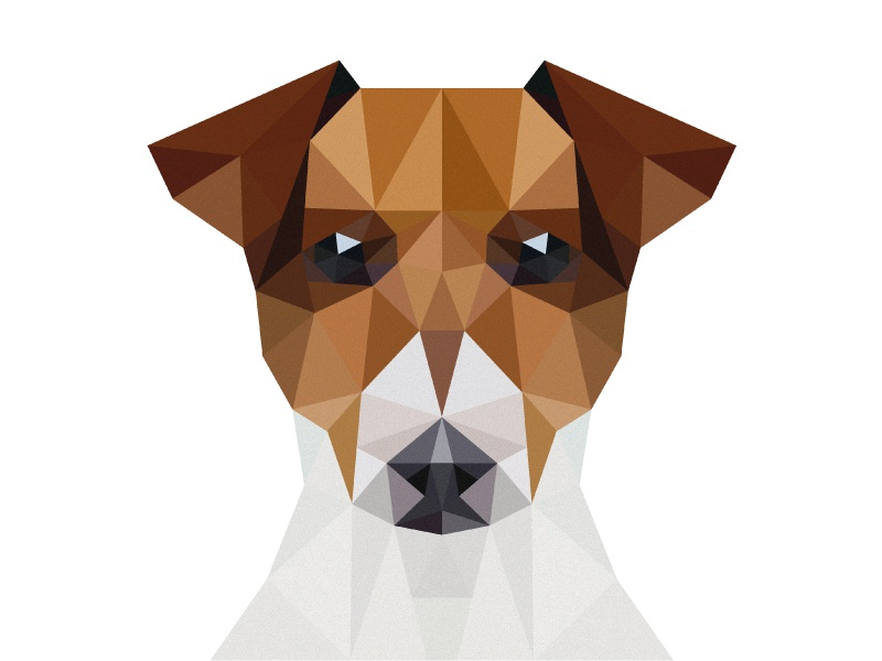 Jack Russell Low Polly low polly jack russell dog graphic