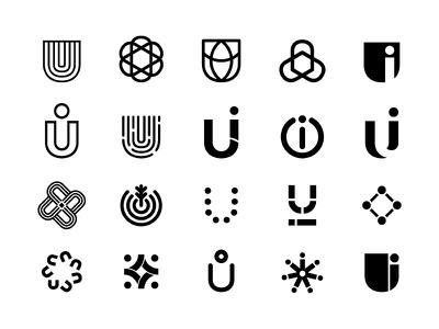 U.I. Logo Exploration wip design logo