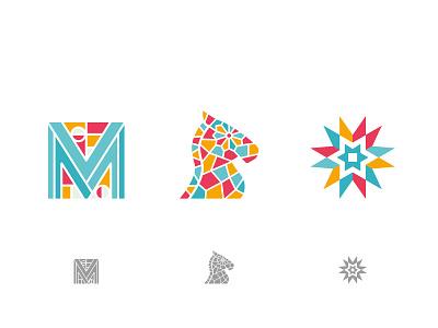 Lost Logos mosaic horse design logo
