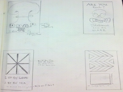 Thumbnails for a Type Poster Project in School