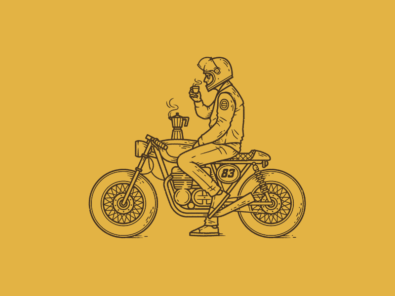 Cafe Racer By Chris Lago Dribbble Dribbble