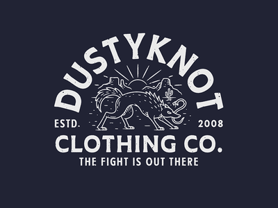 Dustyknot Clothing Co. coyote hand drawn illustration cactus apparel design line work animal snake artwork graphic design drawing