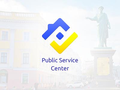 Public Service Center Logo vector illustration government public administrative odessa odesa brand house service branding logo