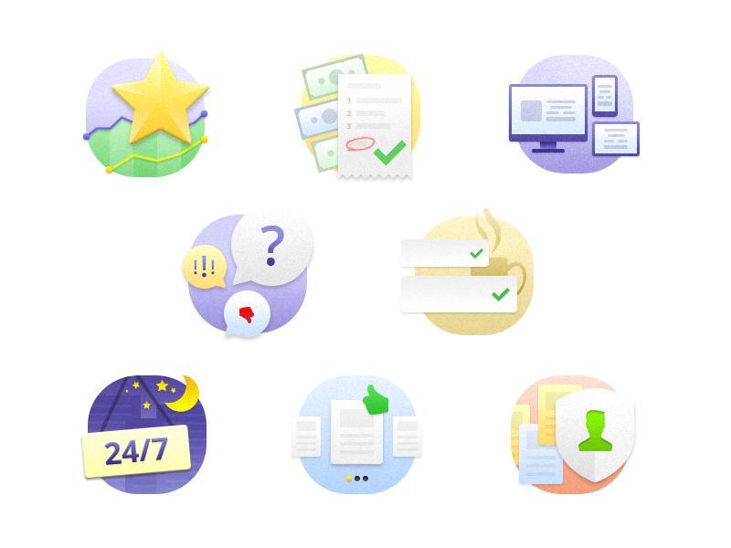Benefits illustrations features advantages check money loan finance credit service paper sand.sharp illustration benefit star