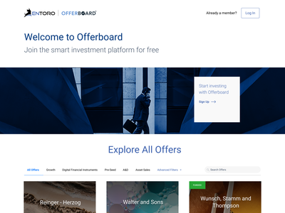 Landing Page for Fin-Tech Web App fintech landing page hero section web design
