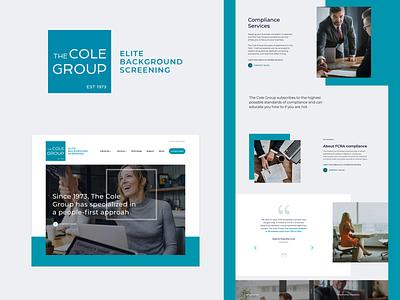 The Cole Group Website digital marketing design website web user interace corporate logo branding ui  ux web design