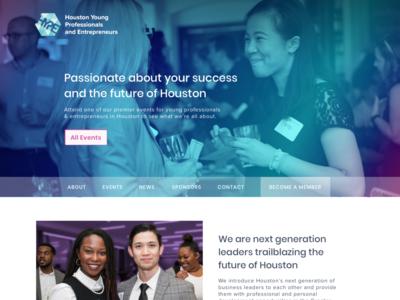 HYPE, Houston Young Professionals & Entrepreneurs, website