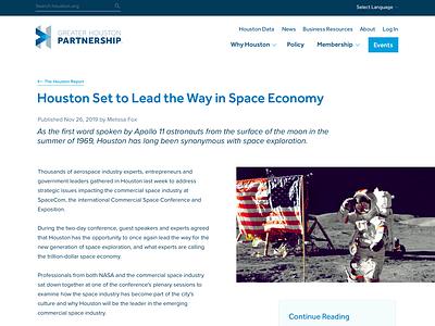 News Post web design