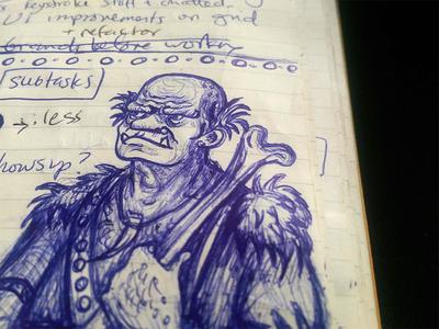 In the margins margins doodle sketch