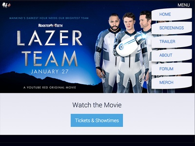 Lazer Team Menu menu border-radius