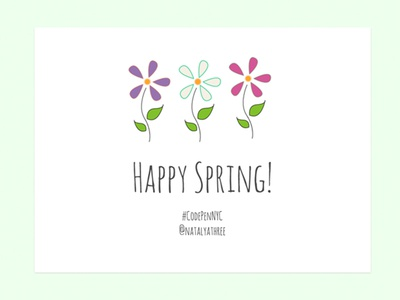 Happy Spring! SVG color animation svg css html