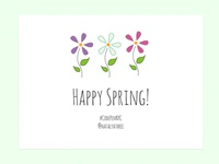 Happy Spring! SVG color animation