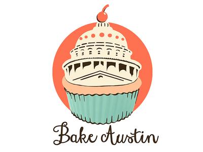 Cupcake Bakery Sticker cupcake logo sticker