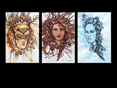 Game of Thrones inspired illustration illustration got game of thrones