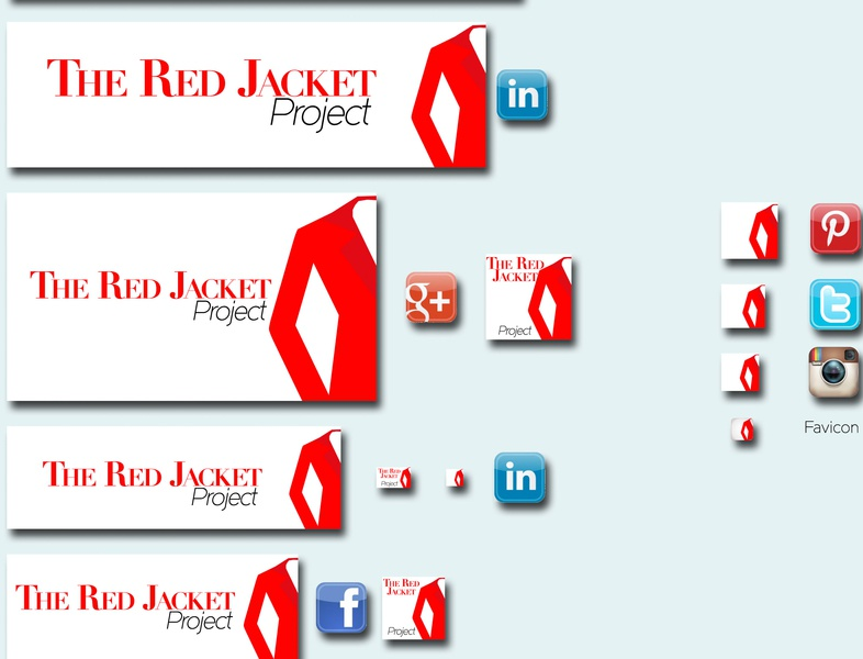The Red Jacket Project icon web branding vector logo