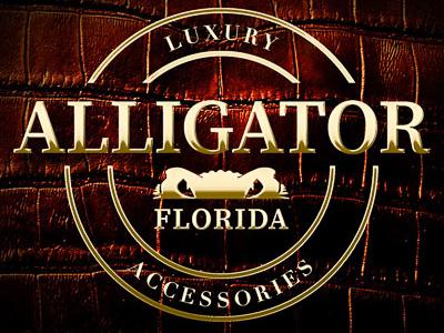 Alligator Florida Logo - Brass