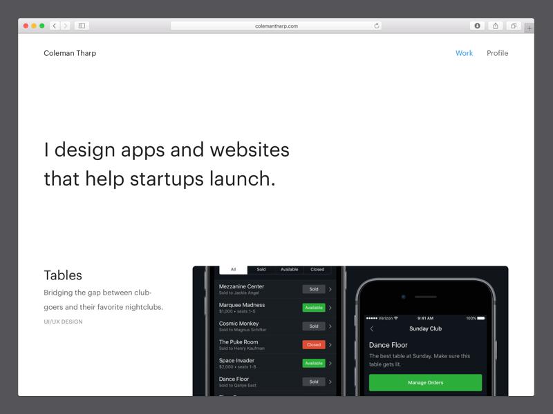 New Site portfolio