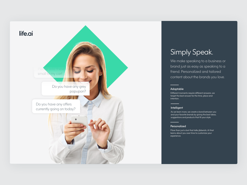 Simply Speak minimal web