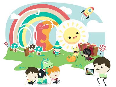 600 FB likes illustration illustration facebook whisperies likes kids e-books stories