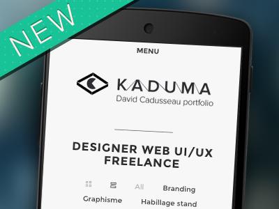 New folio Kaduma.net webdesigner freelance portfolio folio uiux web branding website ux design new responsive mobile