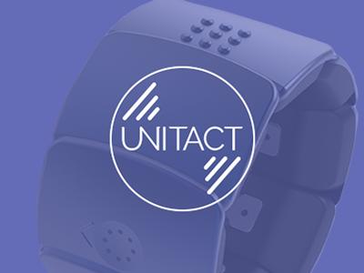Unitact logo deaf iot wearable logo