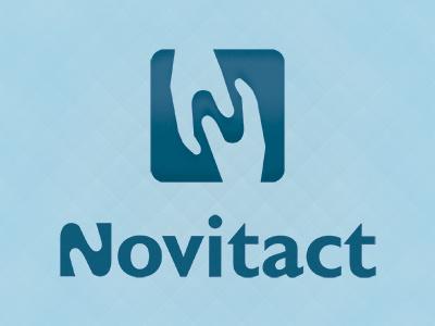 Another version of Novitact logo logo sensoriel mobile tactile communication