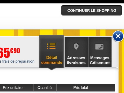 Customer area on iPad app for Cdiscount