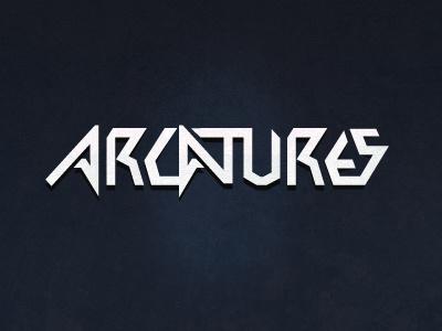 Arcatures typographic logo  typo logo experiment
