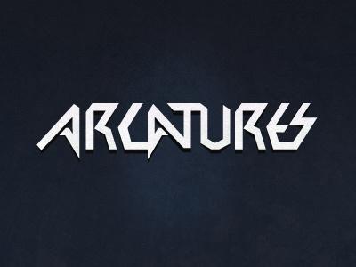 Arcatures typographic logo typo logo experiment lettering sharp type