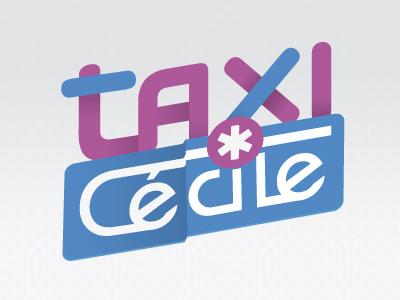 Logo Taxi Cécile taxi logo woman girl medical