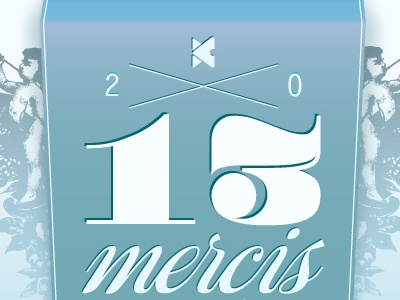Carte de voeux 2013 wishes new year 2013 greeting card voeux blue