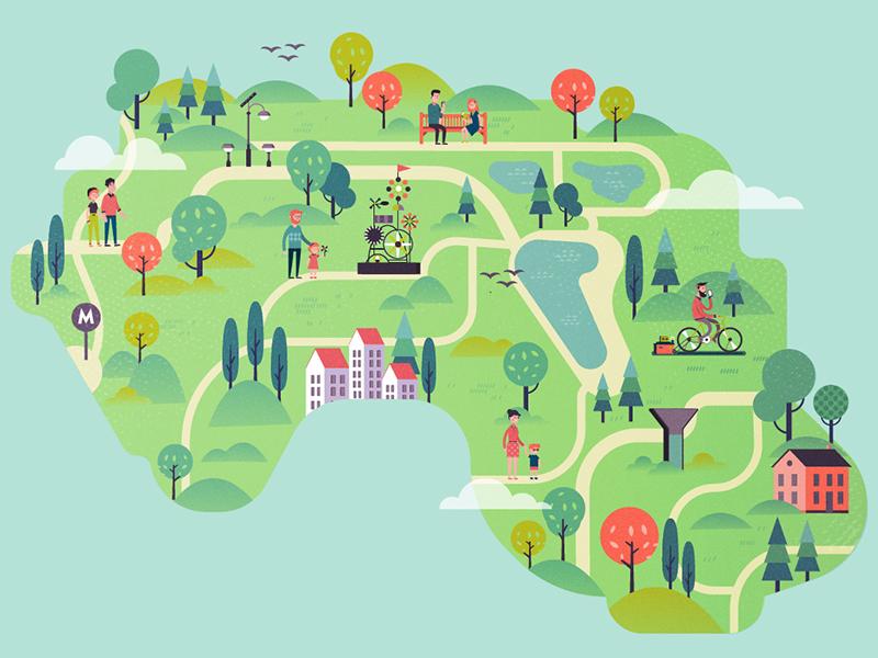 Eco Park Map By Tania Yakunova On Dribbble