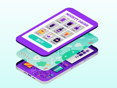 How Android Works android illustration vector isometric phone design material ux ui software firmware