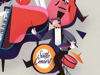 Drummer drum illustration vector music band jazz