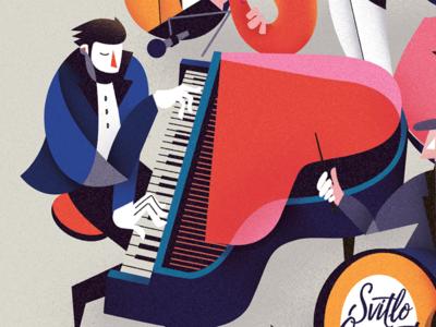 Pianoman illustration music piano jazz