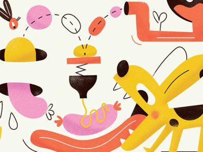 Dogo grain vector rhythm illustration sausage dog
