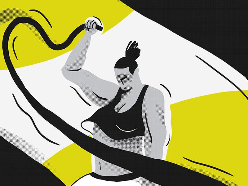 Functional trx power illustration training rope functional sport