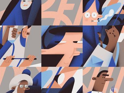 Berlin graphic design travel berlin grainy design poster retro flat character vector illustration