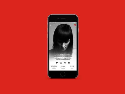 User Profile Concept adobexd app mobile profile user design ui