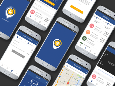 Destino - Gautrain Traveling App Concept Interfaces design product ux ui adobexd app mobile interface