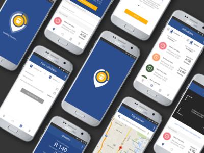Destino - Gautrain Traveling App Concept Interfaces
