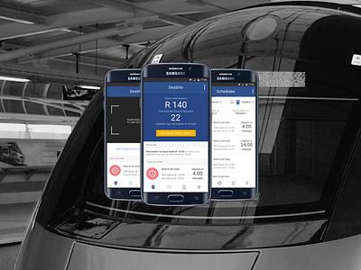 Destino - Gautrain Traveling App Concept design product ux ui adobexd app mobile interface