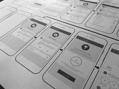 Discovery Vitality Active Rewards Wireframes mobile app product design ux ui wireframe