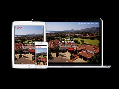 LJM Builders Website construction architecture branding design product ux ui web interface