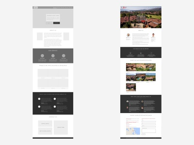 From concept to execution LJM Builders Website website wireframe interface design ui ux