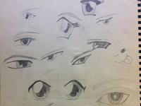 Sketching of eyes
